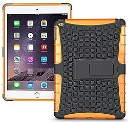 Heartly Flip Kick Stand Hard Dual Armor Hybrid Bumper Back Case Cover For Apple iPad Mini Tablet 1st Generation - Orange