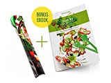 Kitchen Tongs for Cooking-Multi-Functional Set (Tools Utensils Long Spoon Large Fork with Lock)Salad & Serving for Tossing Salads Safe Material Plastic Green Bonus-ebook Top 10 best recipes for salads