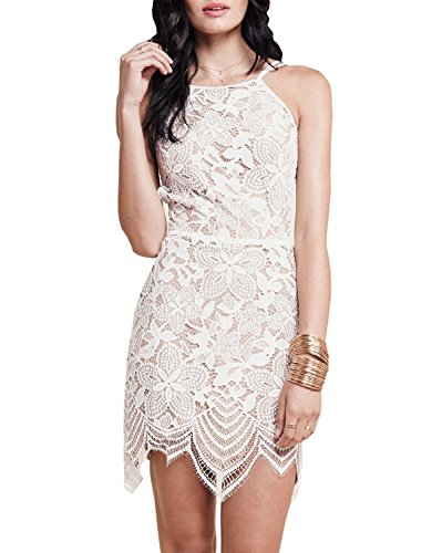 DEARCASE-Womens-Summer-Dresses-Sleeveless-Backless-Guava-Lace-Mini-Dress