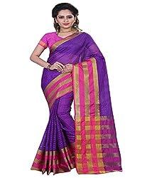 Sanju Trendy Purple Color Cotton Silk Saree