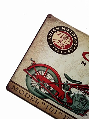 ERLOOD Metal Tin Sign Indian Motorcycle Retro Vintage Decor Metal Tin Sign 12 X 8 2