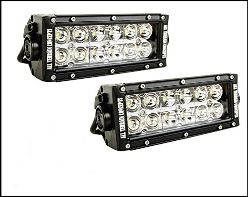 """All Terrain Concepts - Set (2) Of 7.5"""" Led Light Bar Package! Offroad Truck Jeep Land Cruiser 4X4"""