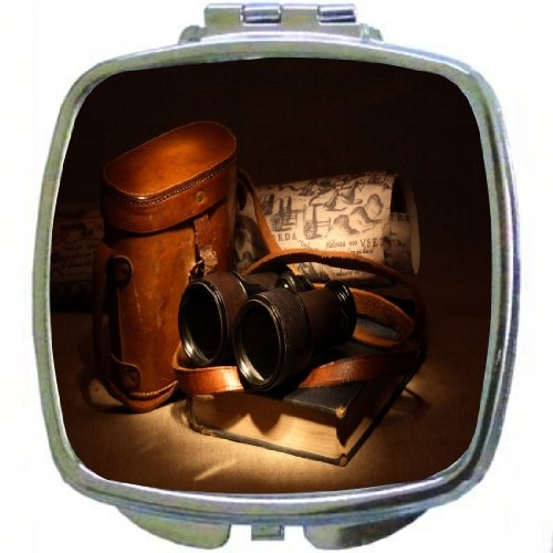Rikki Knighttm Vintage Old Binoculars With Bag Design Compact Mirror