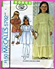 McCall's 5792 Girls Party Dress, Flower Girl Sewing Pattern, Size 4, 1970s Vintage Wedding, 1st Communion