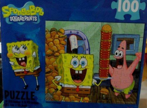Nickelodeon Spongebob Squarepants Character 100 Pc Jigsaw Puzzle - 1