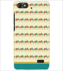 PrintDhaba Owl Pattern D-1702 Back Case Cover for HUAWEI HONOR 4C (Multi-Coloured)