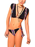 less is more Braguita de Bikini (Negro / Multicolor)