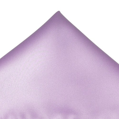 Mens Satin Pale Lilac Pocket Evening Wedding Handkerchief Hanky