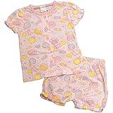 ガールズキッズパジャマ[enfant pur]女の子キャンディ&ドーナツ柄半袖パジャマ|ルームウェア|ルームウエア|寝間着 100cm ピンク