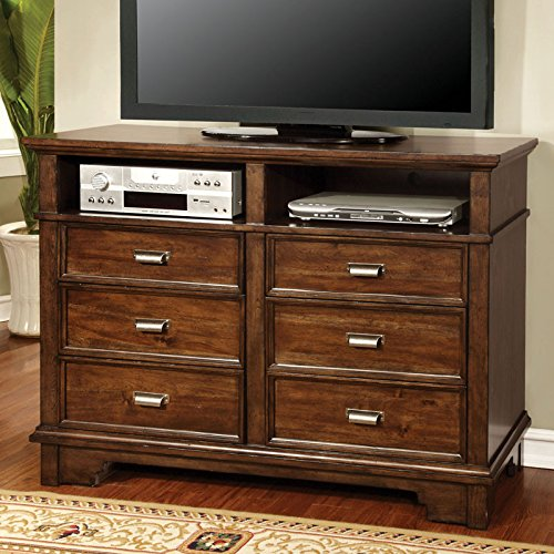 Alcazar Transitional Style Brown Cherry Finish Bedroom Media Chest front-814480