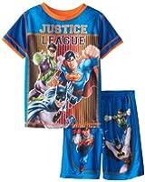 Komar Kids Little Boys' Justice League 2 Piece Pajama Mesh Pajama Short Set