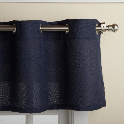 Lorraine Home Fashions Jackson 58-inch x 12-inch Valance, Navy (Blue Valance compare prices)