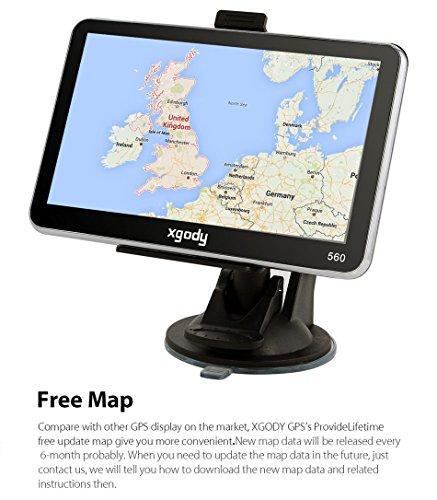 XGODY 5 Inch Car Truck GPS Navigation 8GB 128M MTK FM 5