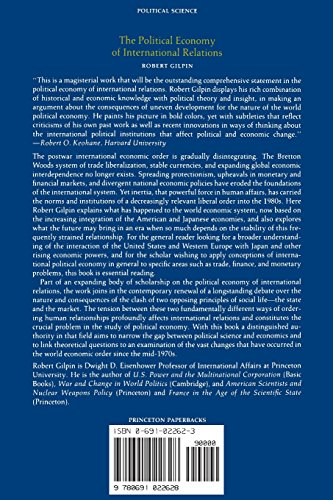 the political economy and international relations Maryland journal of international law volume 12|issue 2 article 6 the political economy of international relations, by robert gilpin stuart s malawer.