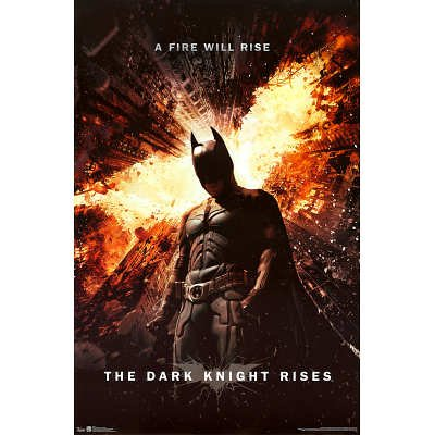 "Batman: The Dark Knight Rises - Movie Poster (Regular Style / A Fire Will Rise) (Size: 24"" x 36"") at Gotham City Store"