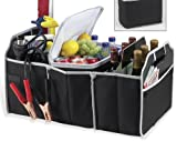 Collapsible Folding Flat Trunk Organizer For Car SUV Truck in Black