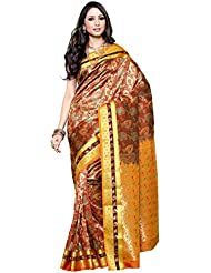 Mimosa Women's Traditional Art Silk Saree Kanjivaram Style, Color :Maroon(3254-N9-MRN)