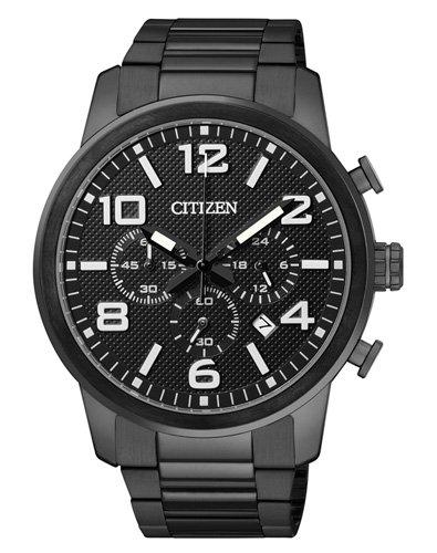 Citizen-Orologio da uomo, Cronografo, Quarzo, Rivestito in acciaio inox AN8056-54E