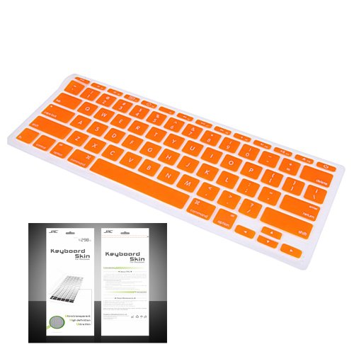 "Smart Tech ® Ultra Thin Silicone Keyboard Cover Skin For Apple Macbook Air 11.6""(Model:A1370 And A1465) (Keyboard Cove+Orange)"