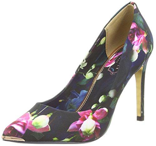 Ted Baker Neevo 3, Scarpe con tacco a punta chiusa donna, (Multicolor (Fuchsia - Print)), 38 EU