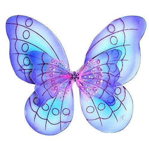 "WeGlow International 20"" Purple Two Tone Double Layer Butterfly Wing by Virginia Toy"