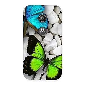 Cute Premier Butterflies Multicolor Back Case Cover for Moto E 2nd Gen