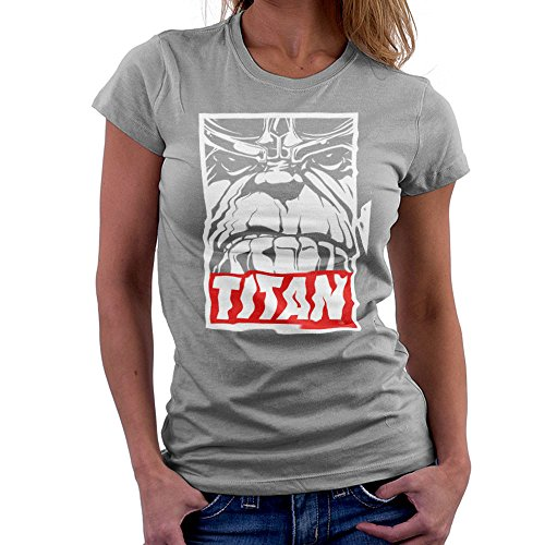 Thanos Titan Obey Logo Women's T-Shirt
