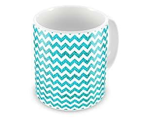 Humor gang chevron trendy pattern classy chic classic retro blue coffee mug 12 oz perfect - Trendy gang ...