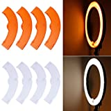 Neewer® White and Yellow Color Filter Set for Neewer 600W 5500K Dimmable Ring Fluorescent Flash Light