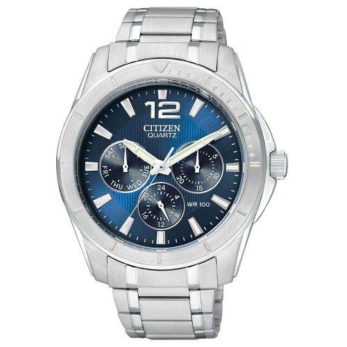 Citizen Stainless Steel Quartz Blue Dial Men'S Watch - Ag8300-52L