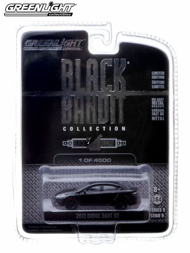 2013 Dodge Dart GT * Black Bandit Collection Series 9 * 2013 Greenlight Collectibles 1:64 Scale Vehicle Die-Cast (Limited Edition / 1 of only 4,500 Pieces)