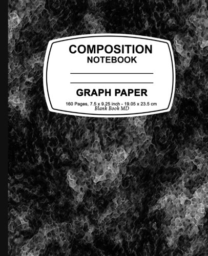 Graph-Paper-Notebook-Black-MarbleGraph-Paper-Notebook-75-x-925-160-Pages-For-for-School-Teacher-Office-Student-Composition-Book
