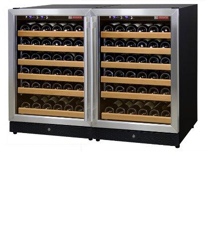Allavino 2X-Mwr-541-Ss 102 Bottle Dual Zone Wine Cooler Refrigerator