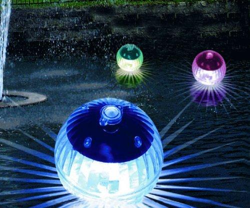 Sfere galleggianti decorative 4 pezzi set a led - Sfere illuminazione giardino ...