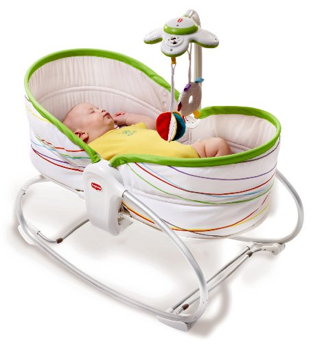 Tiny Love 22218013 3 in1 Rocker Napper Flow Sdraietta, Bianco