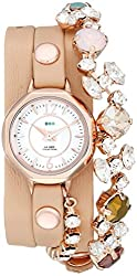 La Mer Collections Women's LMDELCRY1505 Portugal Crystal Coppertone Analog Display Quartz Champagne Watch