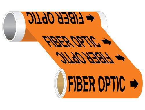 Compliancesigns Wide Tape Roll Electrical Pipe Marker, 8 In X 30 Ft Orange