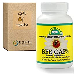 Bee Pollen (2000 mg) Propolis (800 mg) Royal Jelly (400 mg) Raw Honey (200 mg) in 4 Bee Caps Daily
