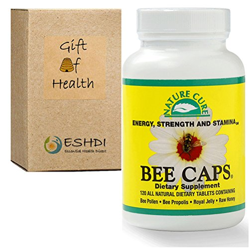 Bee Pollen (2000 mg) Propolis (800 mg) Royal Jelly (400 mg) Raw Honey (200 mg) in 4 Bee Caps Daily (Human Hair Freeze compare prices)