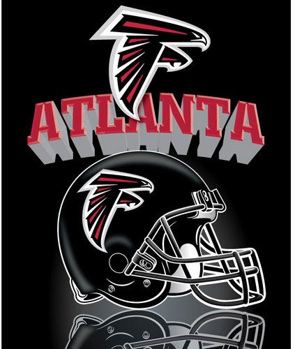 "Atlanta Falcons Light Weight Fleece Nfl Blanket (Grid Iron) (50X60"")"" front-940753"