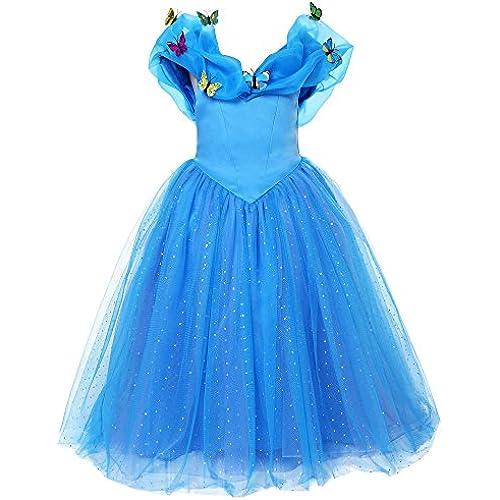 Pettigirl아이 드레스 신데렐라풍 디즈니 프린세스 드레스 아이 원피스 코스튬 큰 사이즈 100-160cm