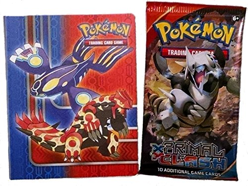 Pokemon X & Y Primal Clash Mini Binder + Booster Pack - Featuring Treecko Mudkip Torchic Mega Groudon Kyogre (Pokemon Omega Ruby Card Binder compare prices)
