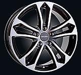 Carmani 5 Arrow Black 7.0x16 ET47 LK 5x112 VW Audi