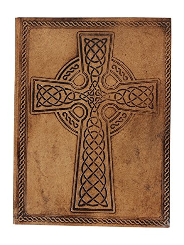"Store Indya Leather Bound Journals Diary Hand Embossed Travel Blank Notebook with Unlined Eco- friendly 48 Sheets 96 Pages (8"" X 6"")"