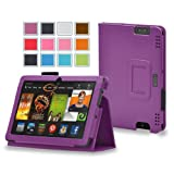 Maxboost Amazon Kindle Fire HDX 8.9 Case Book Foilo Leather Stand Cover Case [Purple] - Premium Slim Protective Leather Case Slim Builds with Multi-Angle Stand, Stylus Holder, and Hand Holding Strap - Compatible to Amazon Kindle Fire HDX 8.9 inches (2013 Release)