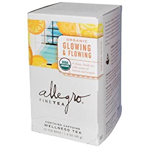 Allegro Organic Glowing and Flowing, 20 Tea Bags