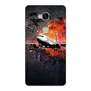 Premier Blast Plain Multicolor Back Case Cover for Huawei Honor 5X