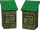 River's Edge 530 Ceramic Out House Shaped Salt and Pepper Shakers