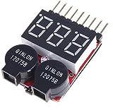 リポバッテリーアラーム&簡易電圧チェッカー 2~8セル Lipo/LiFe/Li-ion 対応