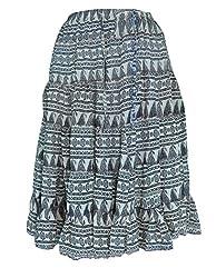PMS Pure Cotton Multi Color Fashion Medium Length Skirt (Assorted Designs)